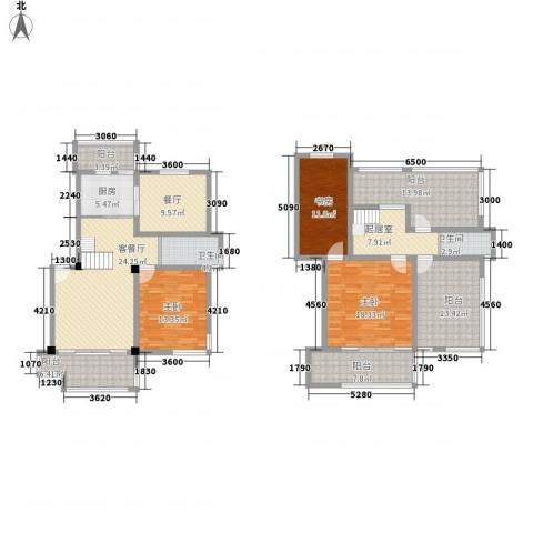 清水湾3室2厅2卫1厨142.70㎡户型图