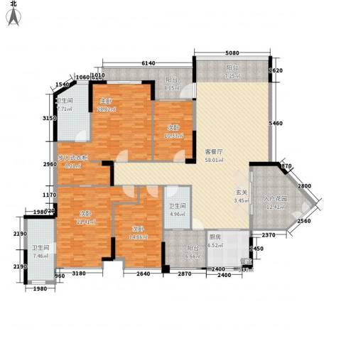 均城上岛水岸4室1厅3卫1厨212.00㎡户型图
