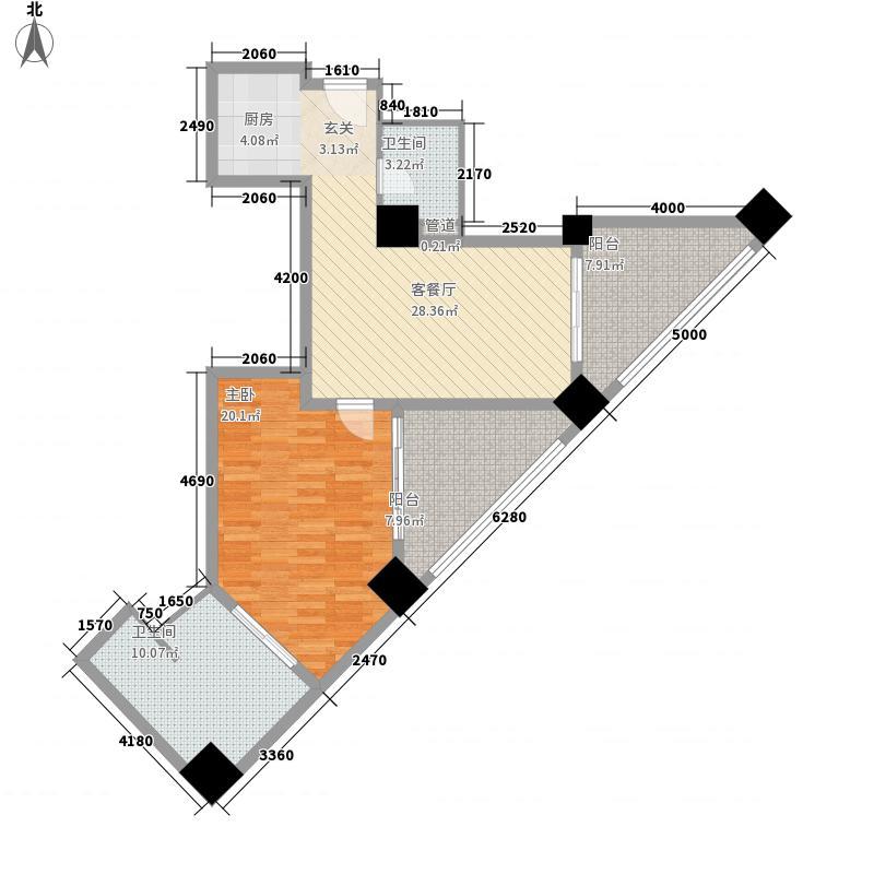 国际公寓套房户型1室1厅1卫