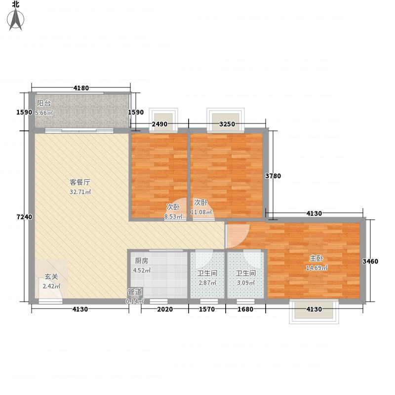 雍逸华庭116.00㎡雍逸华庭户型图4座2梯2单位3室2厅2卫1厨户型3室2厅2卫1厨