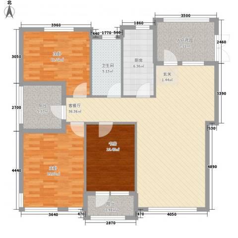 钛子阁3室1厅1卫1厨141.00㎡户型图