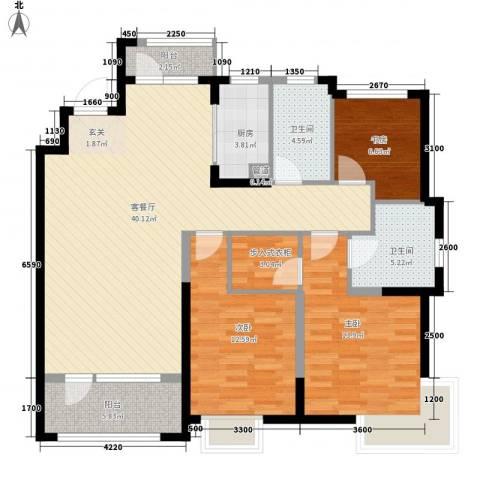 未名山II期3室1厅2卫1厨139.00㎡户型图