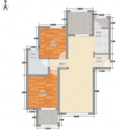 香林郡2室1厅1卫0厨99.00㎡户型图