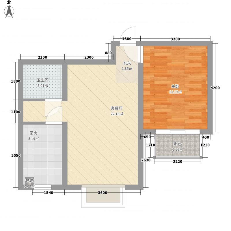 和逸居65.49㎡和逸居户型图B2户型1室2厅1卫户型1室2厅1卫