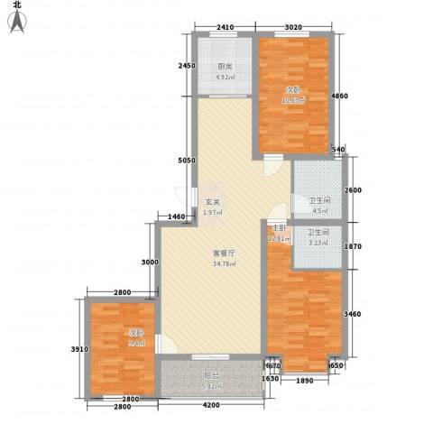 水悦3室1厅2卫1厨146.00㎡户型图