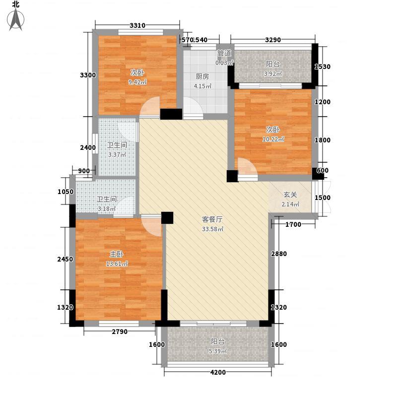 源宏公馆112.50㎡D户型3室2厅2卫