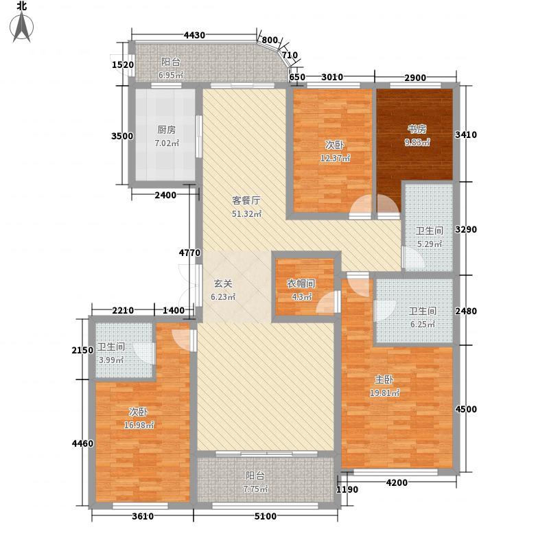 丰沃・龙湖郡203.40㎡丰沃・龙湖郡户型图B2户型4室2厅3卫1厨户型4室2厅3卫1厨