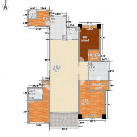 长沙开福万达广场4室1厅4卫1厨240.00㎡户型图