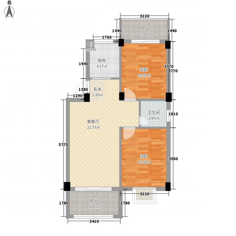 蓝湾明珠二期85.00㎡蓝湾明珠二期户型图2期A户型2室2厅1卫1厨户型2室2厅1卫1厨