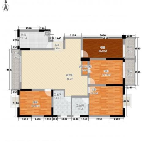 国轩假日4室1厅2卫1厨172.00㎡户型图