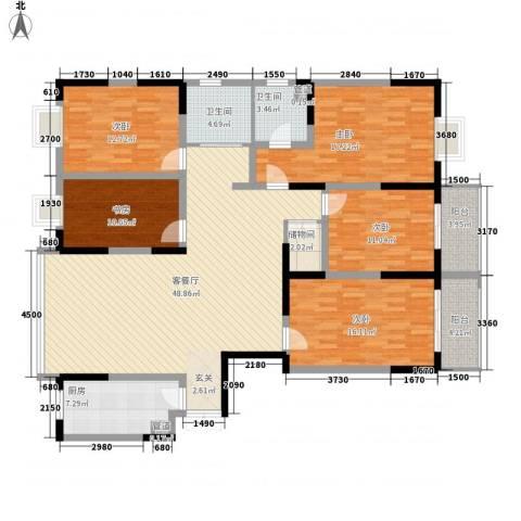 国轩假日5室1厅2卫1厨203.00㎡户型图