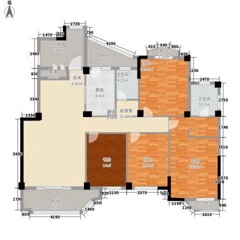 公园道1号三期4室0厅2卫1厨172.05㎡户型图