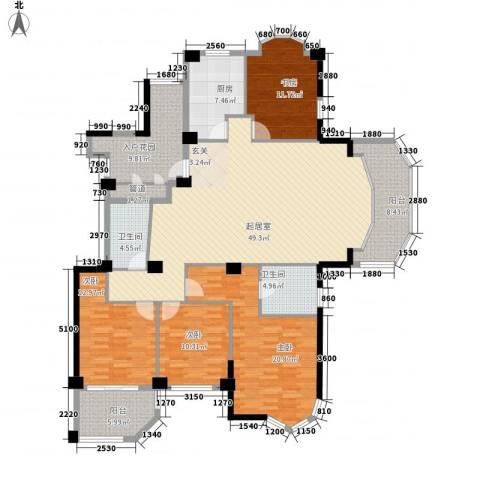 公园道1号三期4室0厅2卫1厨173.00㎡户型图