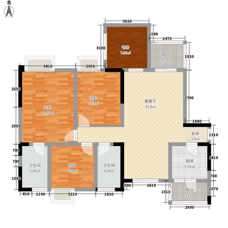 公园世家1、2号楼B2型标准层户型