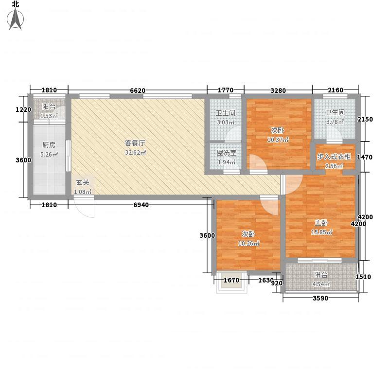 金海岸国际广场4户型3室2厅2卫1厨