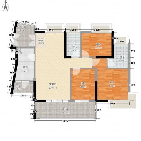 香樟国际.3室1厅2卫1厨119.00㎡户型图