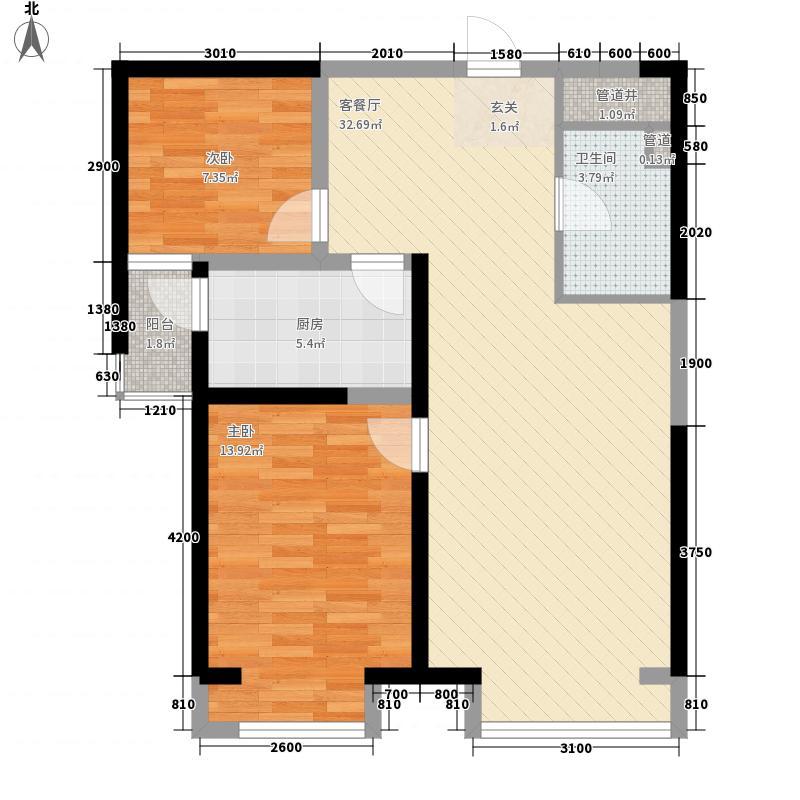 绿都花园63.00㎡绿都花园2室户型2室