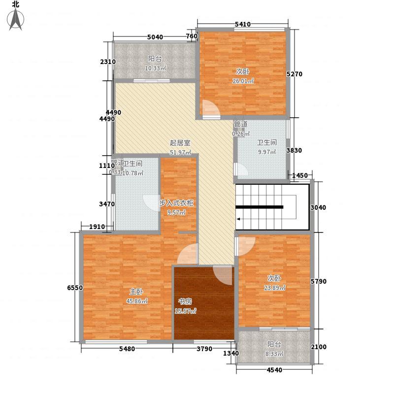 凯迪澳澜湾280.00㎡B4户型二层户型4室4厅4卫1厨