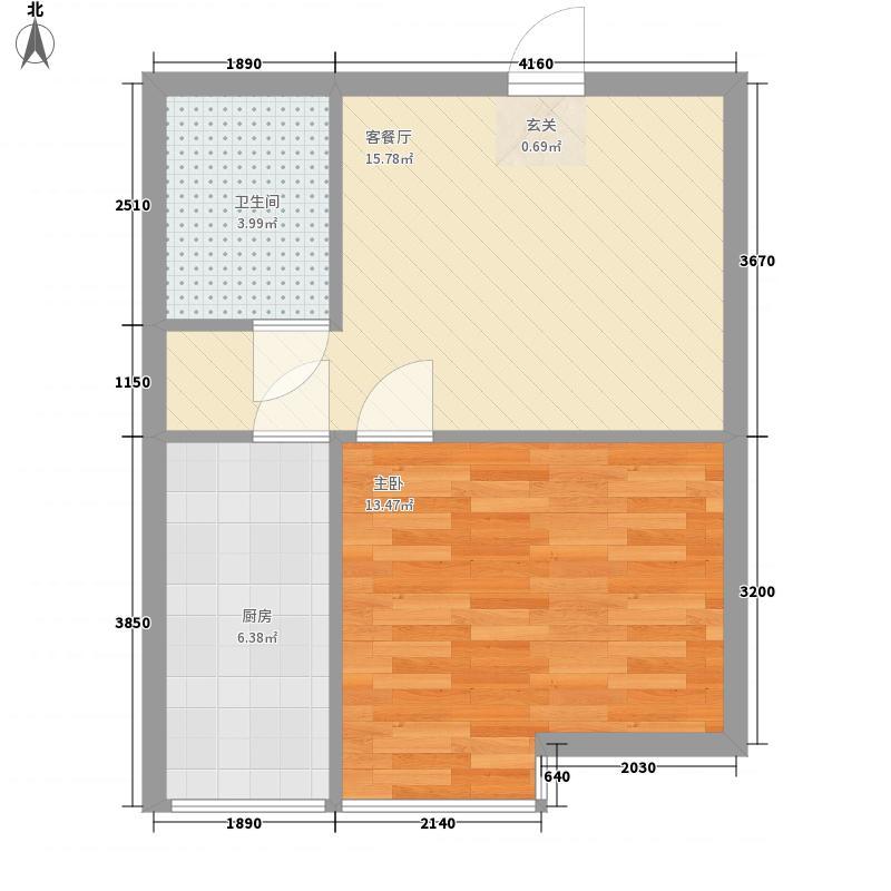 枫景名城52.75㎡枫景名城户型图1室2厅1卫户型10室