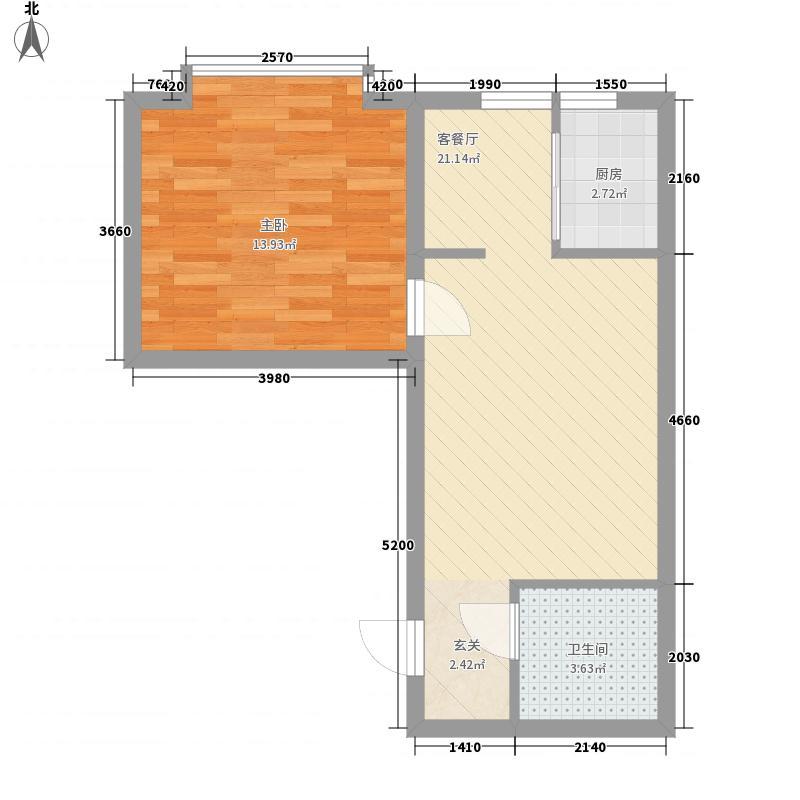 枫景名城56.06㎡枫景名城户型图1室1厅1卫户型10室