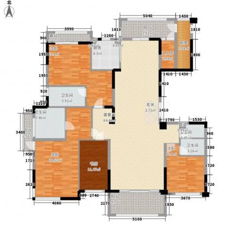 丰泰悦榕东岸4室1厅4卫1厨230.00㎡户型图