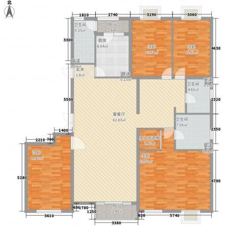 国风上观4室1厅3卫1厨230.00㎡户型图