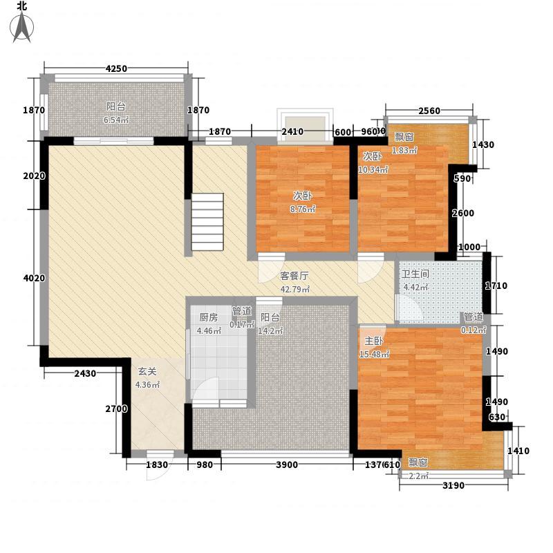 摩玛新城167.00㎡1号楼顶跃1-2(167㎡)户型2室2厅2卫1厨