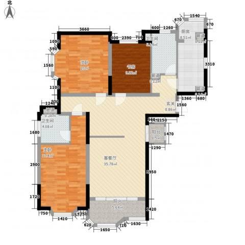 瑞南新苑3室1厅2卫1厨149.00㎡户型图
