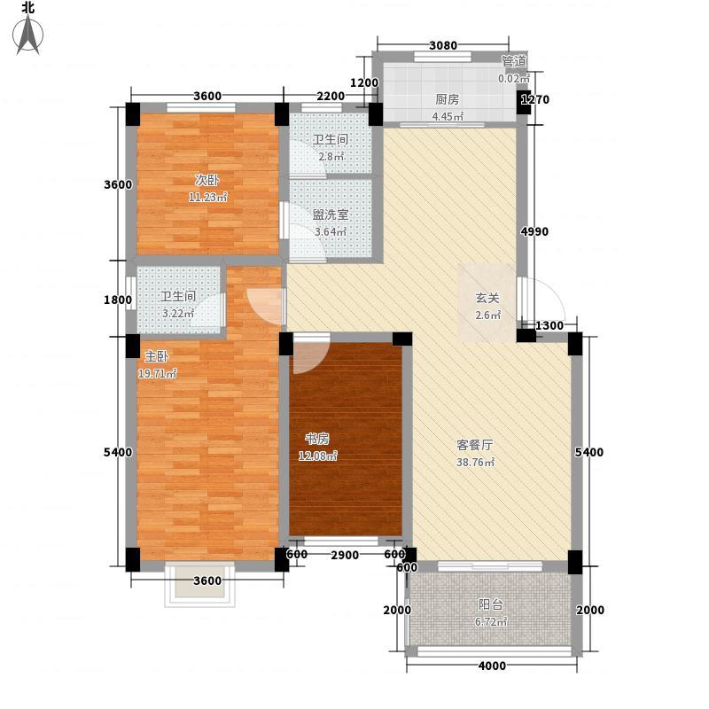 德邦翠馨居126.01㎡德邦翠馨居户型图A3户型3室2厅2卫1厨户型3室2厅2卫1厨