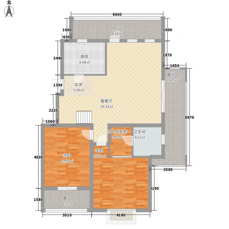 亿路发世家御园145.00㎡洋房A-6跃层(售完)户型2室2厅1卫1厨
