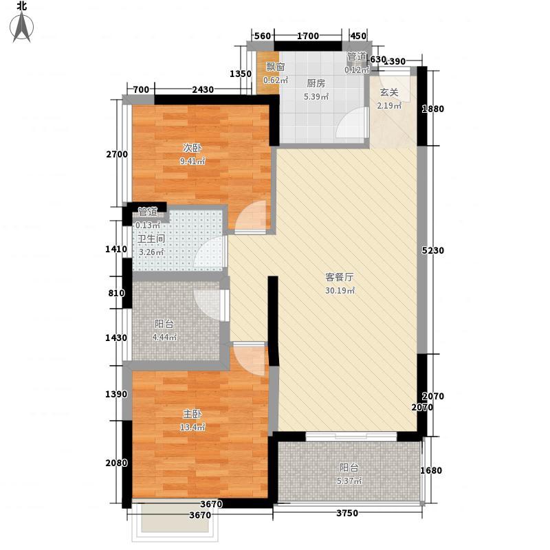 鸿晖・依岸康堤90.00㎡鸿晖・依岸康堤户型图精装2+1房3室2厅1卫1厨户型3室2厅1卫1厨
