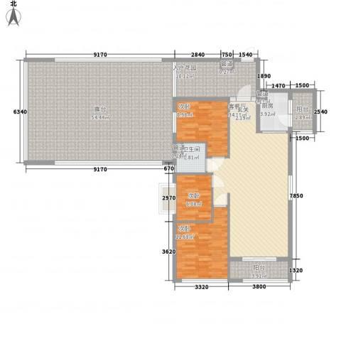 诚丰嘉座3室1厅1卫1厨139.57㎡户型图
