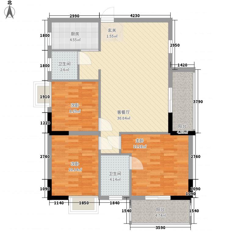 永江花园香溪106.00㎡永江花园香溪户型图1栋A户型3室2厅2卫1厨户型3室2厅2卫1厨