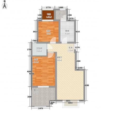 天下荣郡3室1厅1卫1厨81.00㎡户型图