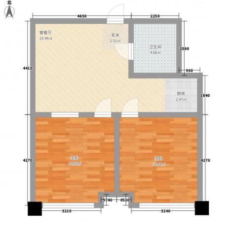 雅都2室1厅1卫0厨82.00㎡户型图