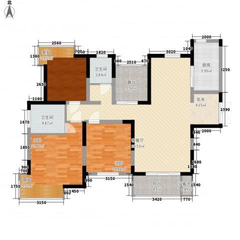 凤凰星城3室1厅2卫1厨136.00㎡户型图