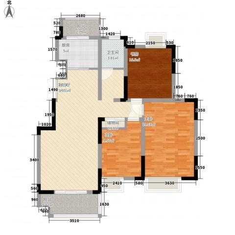 凤凰星城3室1厅1卫1厨116.00㎡户型图