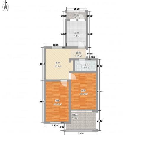 普利永庆街1号2室1厅1卫1厨89.00㎡户型图