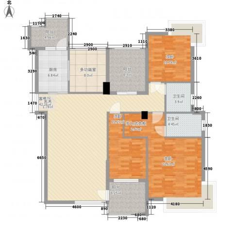 丽水佳园3室1厅2卫1厨128.92㎡户型图