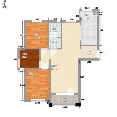 宁舟新村3室1厅1卫1厨73.00㎡户型图
