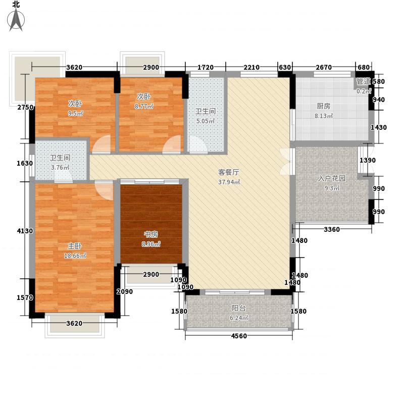 海尚花园海尚花园户型图四室两厅两卫1户型10室