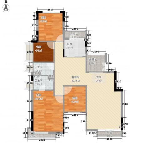 恒大雅苑4室1厅2卫1厨115.00㎡户型图