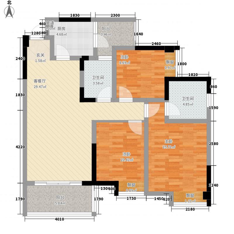 公园世家1、2号楼B4标准层户型