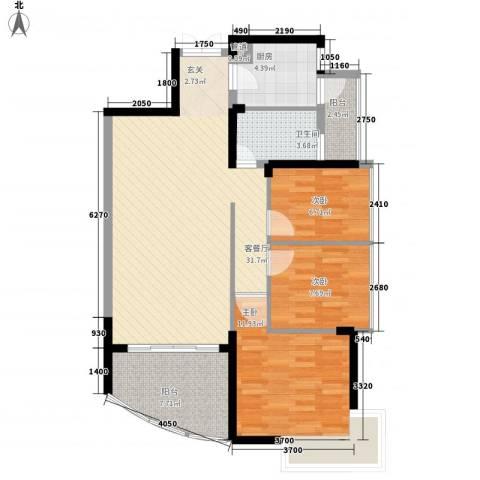 锦绣江南三期3室1厅1卫1厨108.00㎡户型图