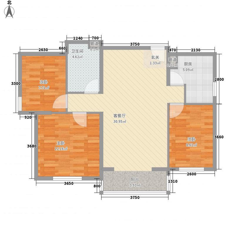 银杏苑98.00㎡银杏苑3室户型3室