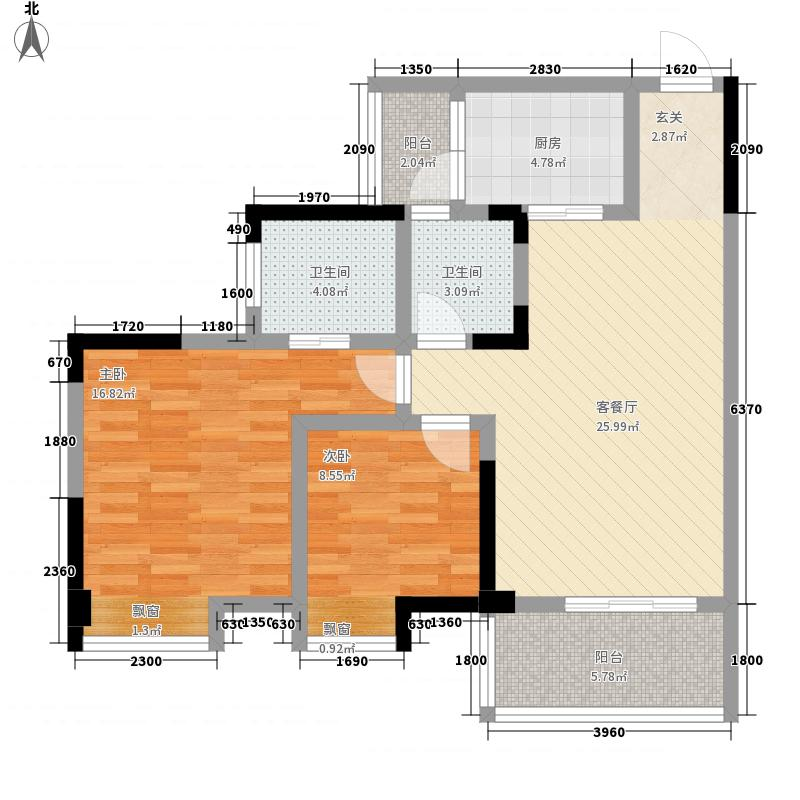 公园世家1、2号楼B3标准层户型
