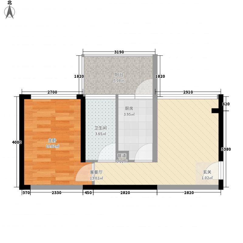 东港印象38.28㎡东港印象家园户型图A座E户型1室1厅1卫户型1室1厅1卫