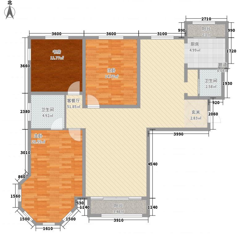 金水花城三期143.62㎡金水花城三期户型图户型图3室2厅2卫户型3室2厅2卫