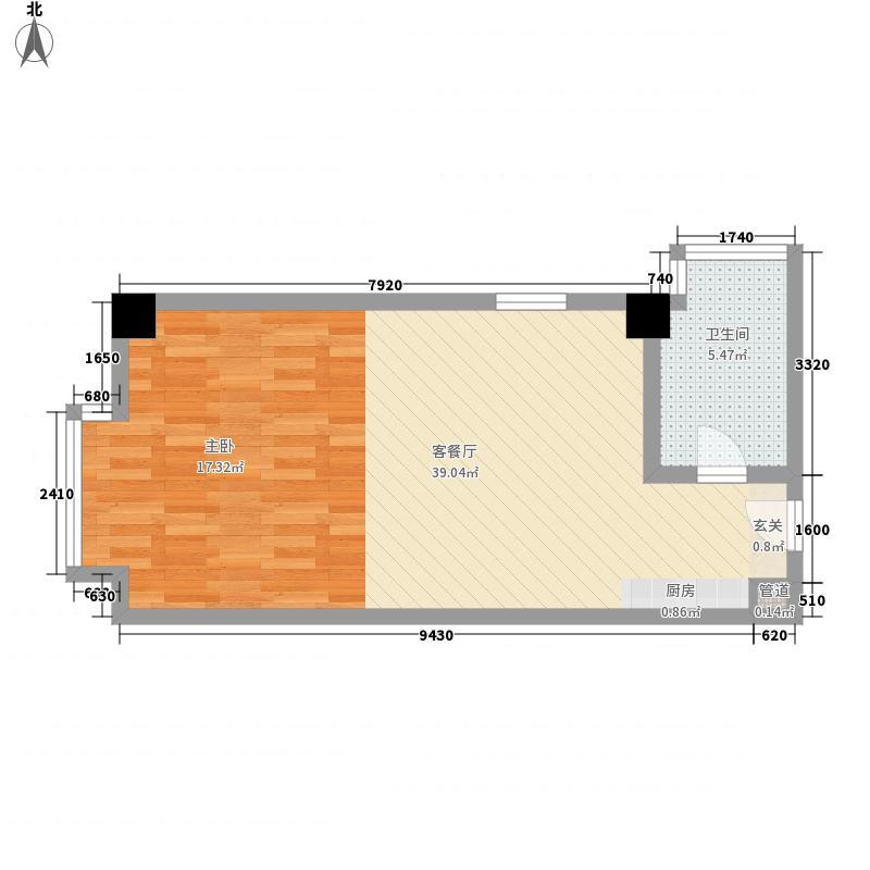 金世界62.38㎡金悦公馆B面积6238m户型