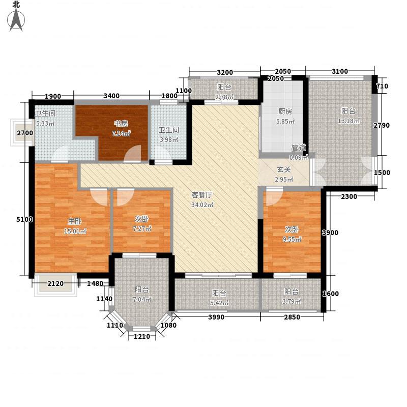 摩尔城85.00㎡摩尔城3室户型3室